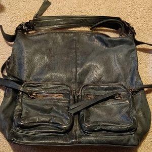 Tano Baltic Blue Leather Handbag